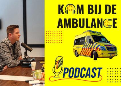 Podcast kom bij de ambulance